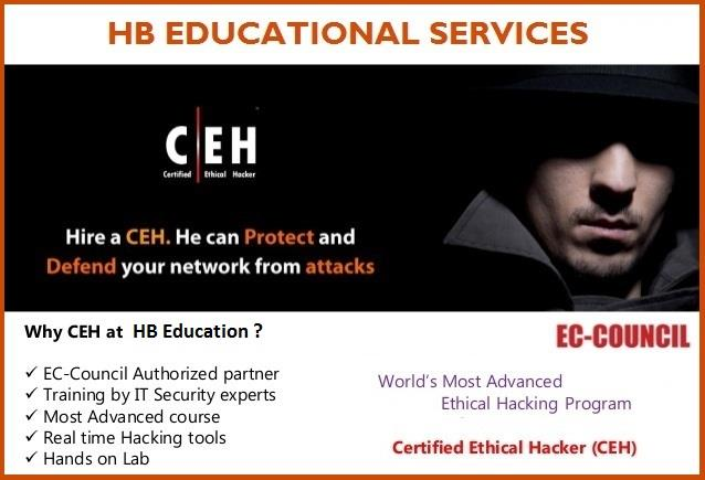 Ethical Hacking Training Institute In Chennai   We are one of the best Ethical Hacking Training Institute In Chennai. We are located at Adyar & Velachery. We offers all IT certification courses at low cost. Limited seats only !!  - by HB Education & Consulting Services (P) Ltd Call Us @ 9884987719, Chennai