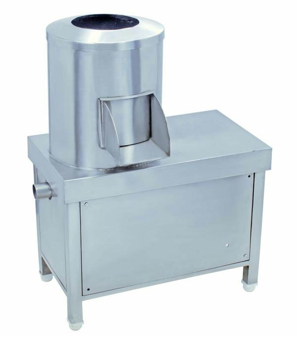 We supply potato peeling machine in Hyderabad. Potato Peeler is available in different sizes which can peel from 20Kgs – 50Kgs of potatoes in 1 hour. We also manufacture all kinds of commercial kitchen equipment and one stop solution for al - by Agarwal Crockery House, Hyderabad