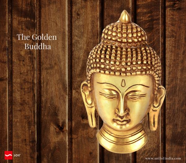 The Golden Buddha handmade in india by soil of india for California, Los Angeles, Marin, Kings, Contra Costa, Beverly Hills.    Crafted in the highlands of Ladakh by local artisans , this meditating Buddha is a form that is revered by Buddh - by Blessings, California