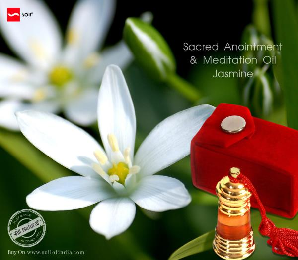 Sacred Anointment And Meditation Oil, Jasmine handmade in india by soil of india for California, Los Angeles, Marin, Kings, Contra Costa, Beverly Hills.    Makes you feel light and joyful     http://soilofindia.com/our-products/blessings/pr - by Blessings, California