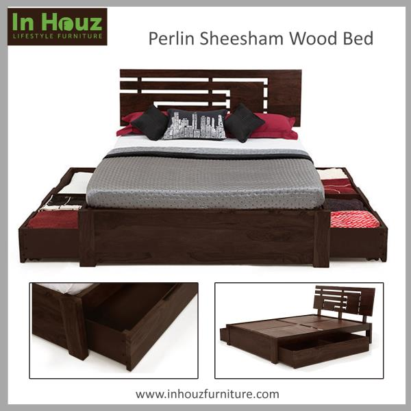 Elegantly designed, This SheeshamWood Storage Bed is a great choice for your BedRoom. Buy Wooden BedRoom Furniture Online from Inhouzfurniture.com  For more info visit inhouzfurniture.com - by In Houz Furniture, hyderabad