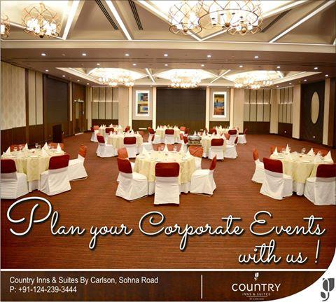 Perfect #place to plan all your #corporate #events at countryinnsuites, #sohnaroad #gurgaon. For more details please click here: http://bit.ly/25ppGuf  - by Country Inn & Suites By Carlson, Gurgaon Sohna Road, Gurgaon