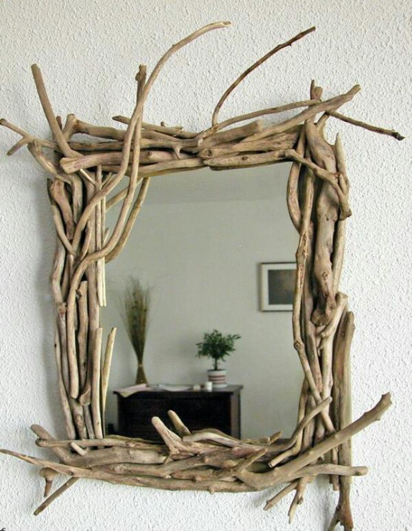 Rustic framed mirror customed to user specification.