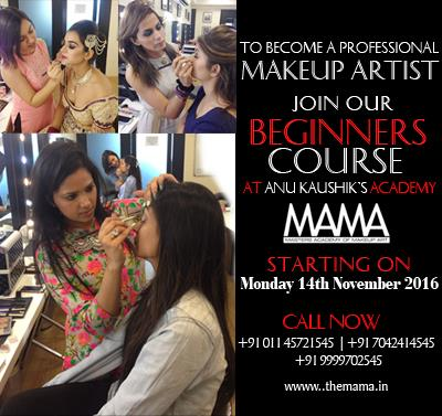 Join Beginners Course for Makeup Artist in Delhi Ncr by International Artist  For more information login www.themama.in  Mama-Masters Academy of Makeup Art - by Masters Academy Of Makeup Art, New Delhi