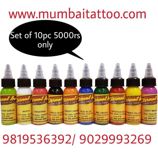 Mumbai Tattoo Supply We are a renowned entity indulged in offering Eternal Tattoo Ink. This eternal tattoo ink is a collection of ink colors that are used for tattoo making. These offered kits are quality assured. These eternal tattoo inks  - by Mumbai Tattoo, Mumbai