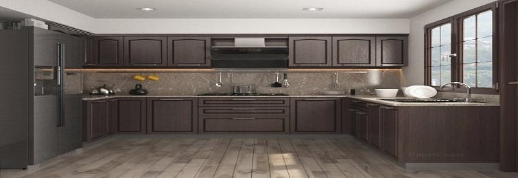 Straight Modular Kitchen manufacturers in Delhi  Mostly and widely preferred for small kitchens with less space. It's also known as single wall or one wall kitchen. Intelligent and clever utilization of available space, convenience and more space for more kitchen activities are the benchmarks of straight modular kitchens. For smaller kitchens to look spacious larger appliances are smartly placed.