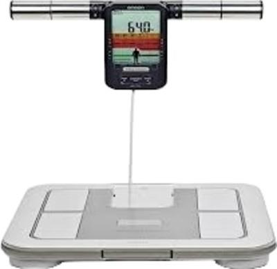 Omron Body fat Analyser   Key Features   4 Memory Preset  Step On Analyzer  1 Operation Mode  Visceral Fat Analysis  Body Fat Percentage  Skeletal muscle percentage  BMI Display  Past Result Display  Body age Display  Resting Metabolism Dis - by Swastik Systems & Services, Delhi