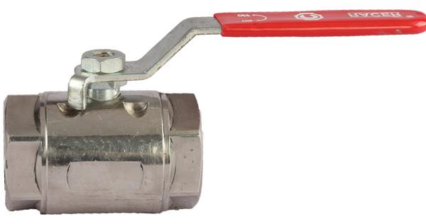 TWO EYE TYPE  BALL VALVES, SINGLE PIECE DESIGN, FULL BORE WITH TWO EYE TYPE LOCKING DESIGN, AND SCREWED ENDS TO BSP (F), WITH SS BALL & STEM, PTFE SEAT & SEAL, AND HAND LEVER OPERATED. SS & MS MATERIAL IN AVAILABLE.  - by RACER VALVES, Ahmedabad