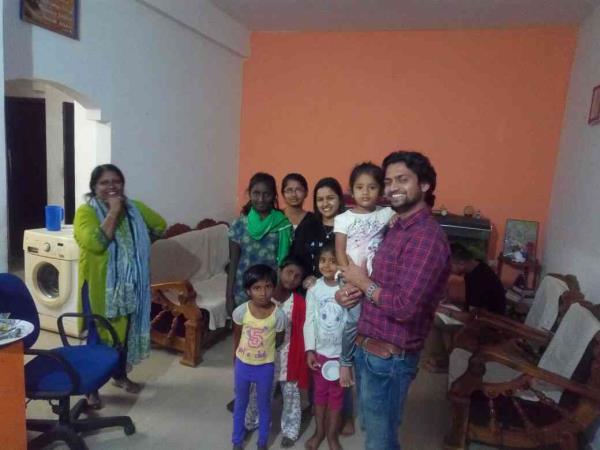 Prasanth birthday celebrated in ROH  - by Rays Of Hope, Bengaluru