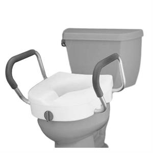 The Premium Seat Riser with Removable Arms is the perfect addition for individuals who have difficulty sitting down on, or getting up from, the toilet.  The strong and durable metal arms feature rubberized grips for added comfort and to pro - by Pioneer Surgicals, Pune