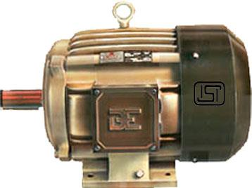 Standard Standard Three Phase Squirrel Cage Motors.   Standard Electrical and Mechanical features & Range: - Motors with standard rating and duty cycles, 3 phase squirrel cage 0.18kw/0.25hp to 30kw/40hp with standard speed and various type of construction are available from frame size 63 to 200.  Standards :-  Performance conforms to IS: 325 and dimensions according to IS: 1231 and IS: 2223.  Ratings:- Motors are rated for continuous duty at an ambient of 40o C and site altitudes of up to 1000 m above sea level   Voltage and Frequency:- Motors are designed for 415±6% Volts, 3 phase 50 Hz ±3% supply. Motors with different voltage (110, 220, 380, 400, 525 etc)and frequency (60 Hz) are available on request.  Enclosure:- Motors have IP 55 degree of protection as a standard feature This degree of protection conforms to IS : 4691.   Motor Frame:- Motors are Supplied in robust and rugged cast iron frame with integral feet from 63 to 200. However, motors can be supplied in die cast aluminum body with integral feet from frame size 63, 71, 80, 90, 100, 112.  Insulation:- Motors are provided with class 'B/F' insulation as standard feature. This degree of protection conforms to IS: 4691.  Winding Protection :- Embedded of PTC thermistors in the stator winding is feasible on request.  Paint :- Standard paint is Suitable for tropical conditions. However, special paint is available on request.  Types Of Construction :- Standard motors with single shaft extension are for horizontal foot mounting (B3 as per IS: 1231). Other types of construction like double shaft extension, flange mounting (B5 as per IS: 2223), face mounting (B14 as per IS: 2253) available on request.  Cooling and Ventilation :- Type of cooling is as per IS: 6362. All TEFC motors are having an external centrifugal fan, mounted on non driving end shaft.  Noise :- Motors are designed and produced for low noise levels. Our stator stacking system eliminates electromagnetic noise caused by loose stamping. All rotors are 
