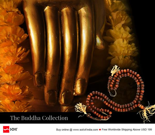 The Buddha Collection handmade in India by Soil of India for California, Los Angeles, Marin, Kings, Contra Costa, Beverly Hills.    Meditating Buddha Beads In many traditions, specifically Buddhist and Hindu, the repetition of the Lords nam - by Handmade Indian Jewelry, California