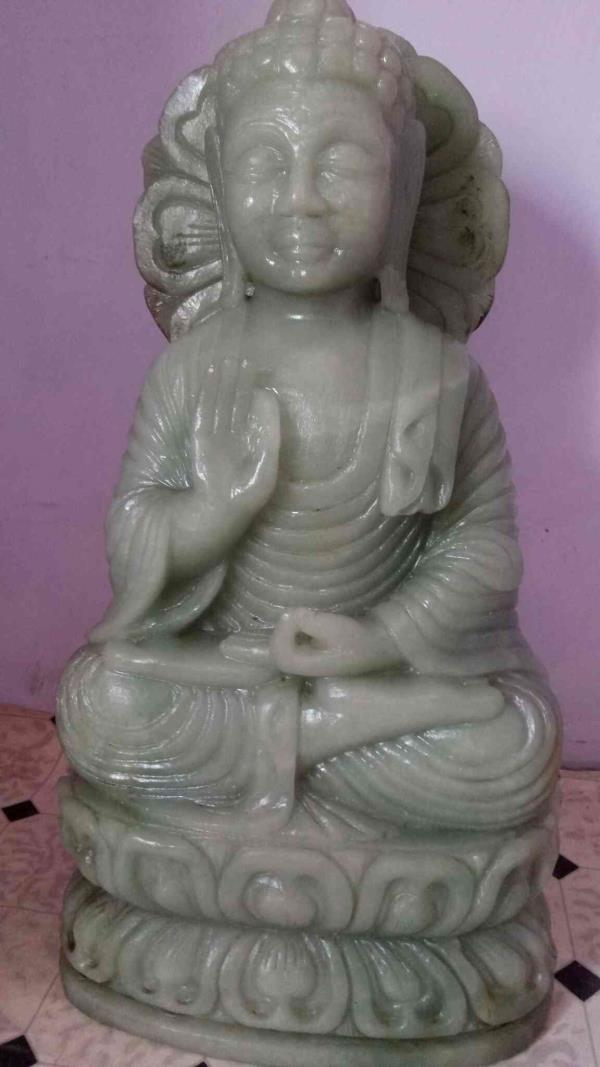 Lord Buddha  Sculpture Of Lord Buddha  Statue Of Jade Stone Buddha Weight - 41 Kg  Price - 50 $           We Are The Best Quality Manufacturer Of Precious And Semi Precious Statue Or Sculpture Or Article   Visit Our Website SambhavGemsInternational.com