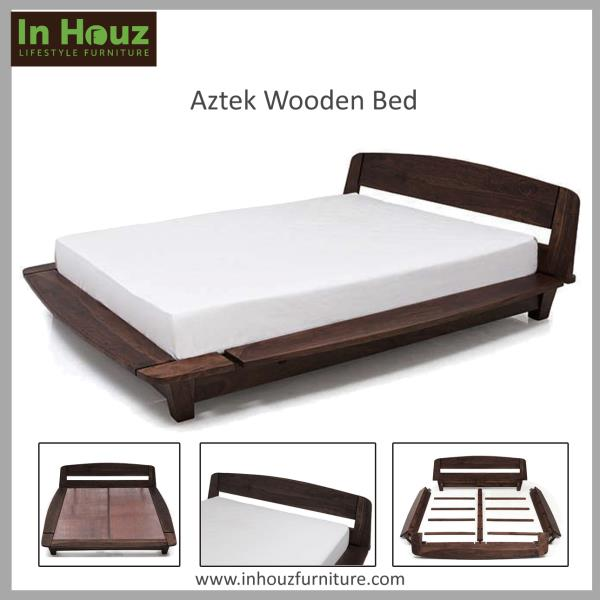 A stunning piece of Bedroom Furniture, handcrafted from premium Solidwood to give ample of space for your exquisite collection.   #BedRoom#BedRoomFurniture#Bed#BedDesign#SheeshamwoodBed#BedsOnline#SolidwoodBeds#FurnitureShoppingOnline#Inhou - by In Houz Furniture, Chennai