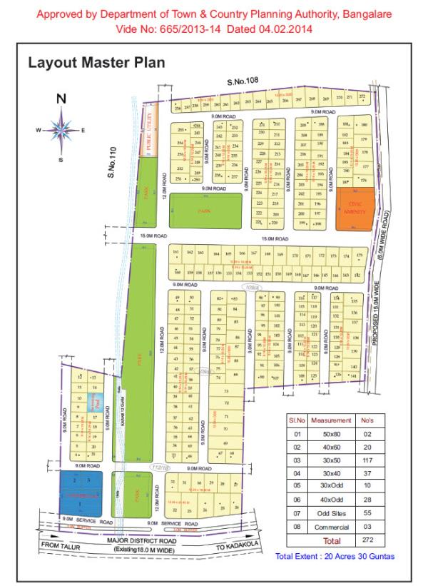 30x50 site near Nanjangud Road, Mysore DTACP apprd, Imm registration,  Site purchase loans available