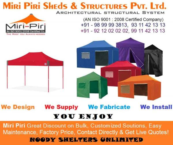 Gazebo Tents Manufacturing Companies, Suppliers, Dealers, Contrractors Delhi, India - by Industrial Sheds Manufacturing Co. 9899993813, 9212020202, Delhi