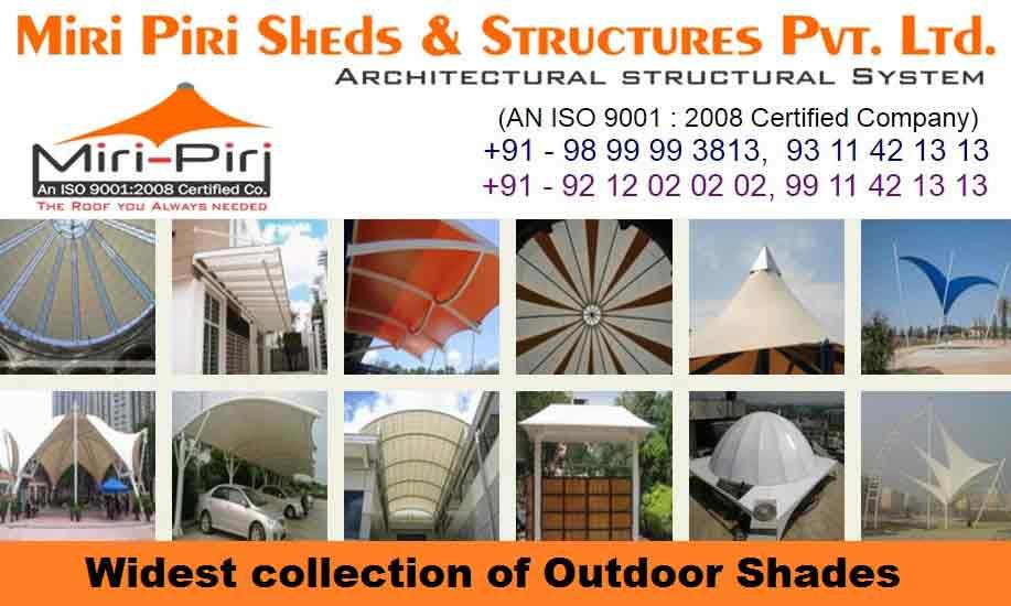 Tensile Membrane Structures Manufacturing Companies, Suppliers, Dealers, Contrractors, Dealers, Exporters, New Delhi, India - by Industrial Sheds Manufacturing Co. 9899993813, 9212020202, Delhi