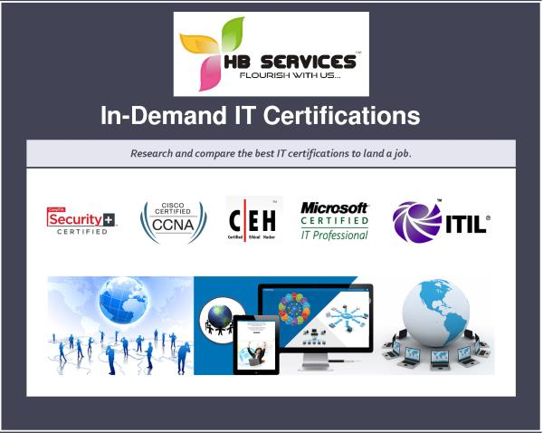 IT Training Institute In Chennai  We are one of the best IT Training Institutes in Chennai.We offer all IT certification courses at low cost.We are located at Adyar & Velachery. Limited seats only !! Hurry up!! - by HB Education & Consulting Services (P) Ltd Call Us @ 9884987719, Chennai