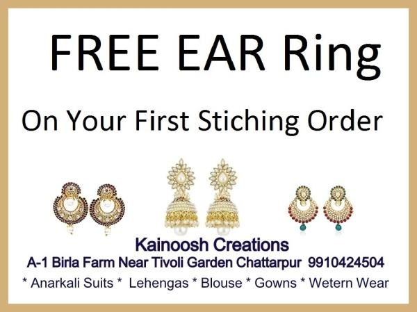 FREE Earing with your Frist  Stiching order Managed by Qualified Fashion Designer Best Ladies Tailors  in Chattarpur Chattarpur  Ansal Villa  Home  Delivery and Pick up Available  call  9210588520