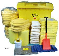 Oil and Chemical Spill Kits   Spill kit is used to clean oil, chemicals & acid on land or water It is designed for quick response to oil and Chemical spills Spill kit contains sorbent pads, sorbent pillows, sorbent booms, chemical suit, gloves, goggles, etc