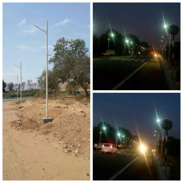 Installation of 1000 nos of solar street light on Lunavada Santrampur road
