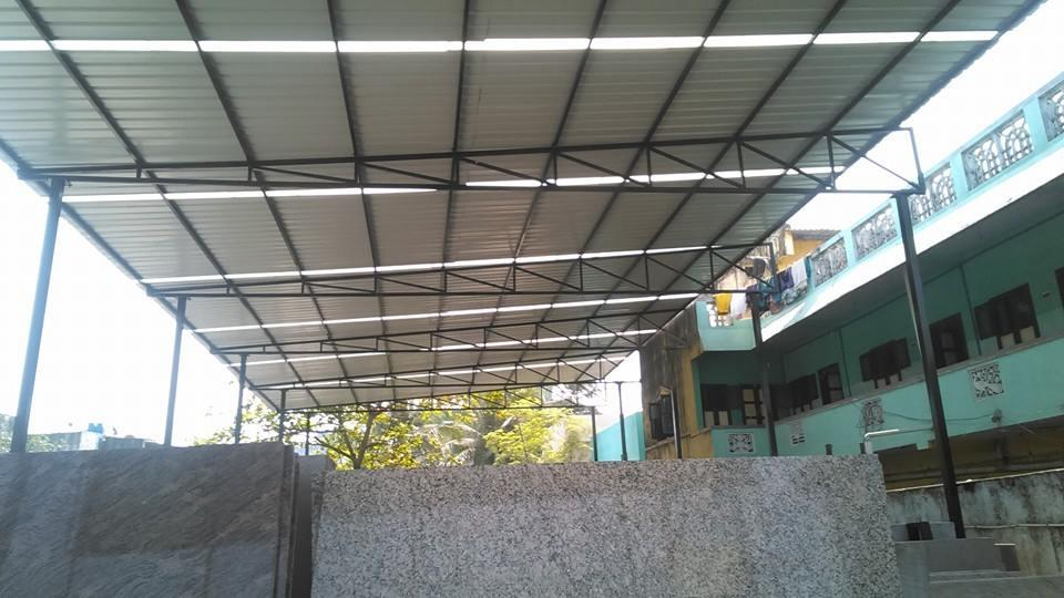 Arch Type Roofing Shed in Chennai  Factory Sheds Fabrication  Parking Shed  Parking Shed Roofing  Car Parking Shed