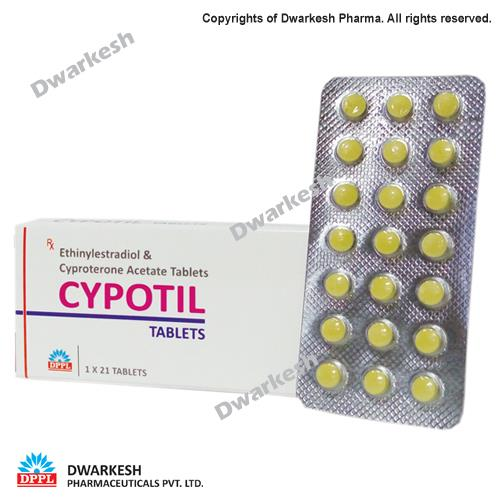 Dwarkesh Pharmaceutical Private Limited do third party pharma contract manufacturing of Ethinylestradiol & Cyproterone Acetate Tablets.