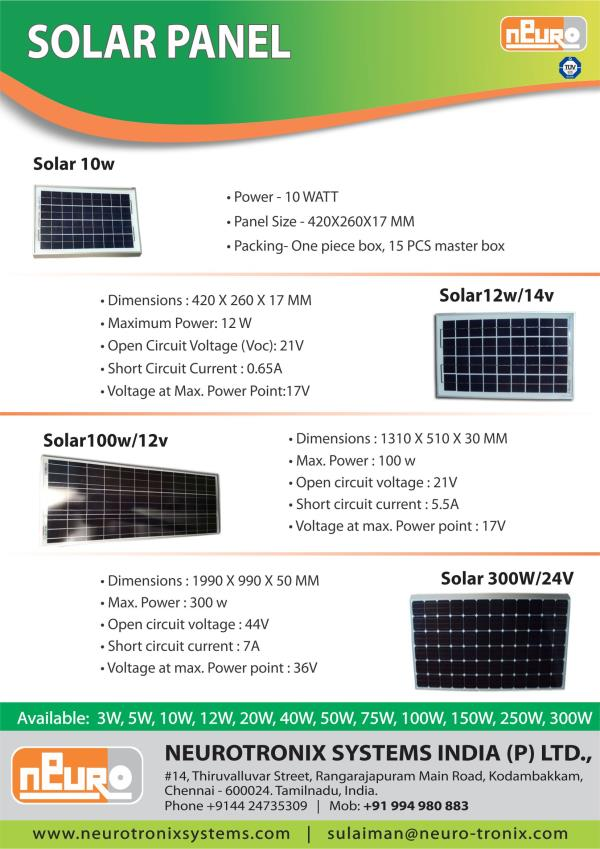 Solar panel Manufacturer in Chennai We are the best Solar panel Manufacturer in chennai