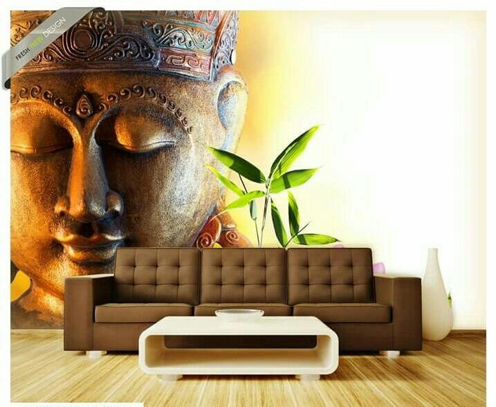 Coustmize wallpaper of Buddha  - by Kinjal Wall Decor, Hyderabad