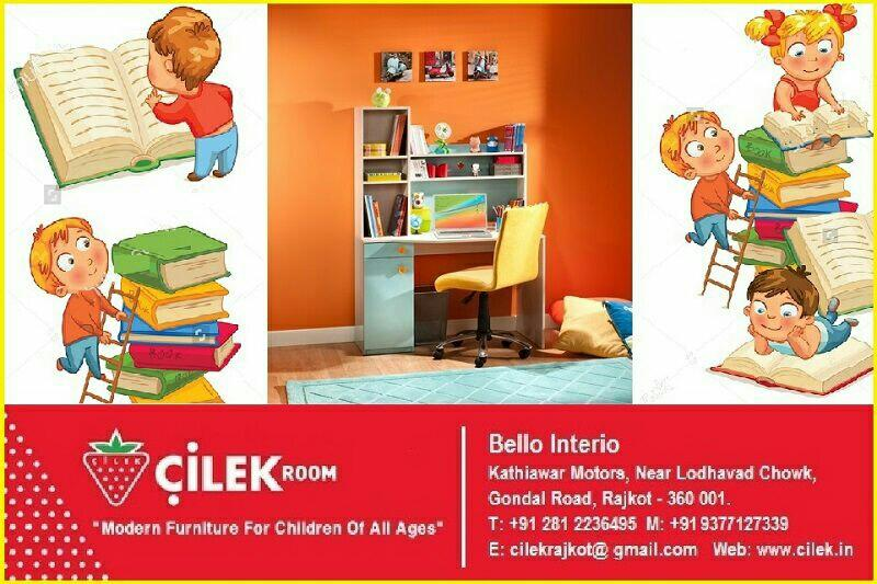 CILEK'S split Bule Series Study Unit having combination of blue and white provide a comfortable study environment along with their wide desk & storage cupboards.  - by KK Enterprise, Rajkot