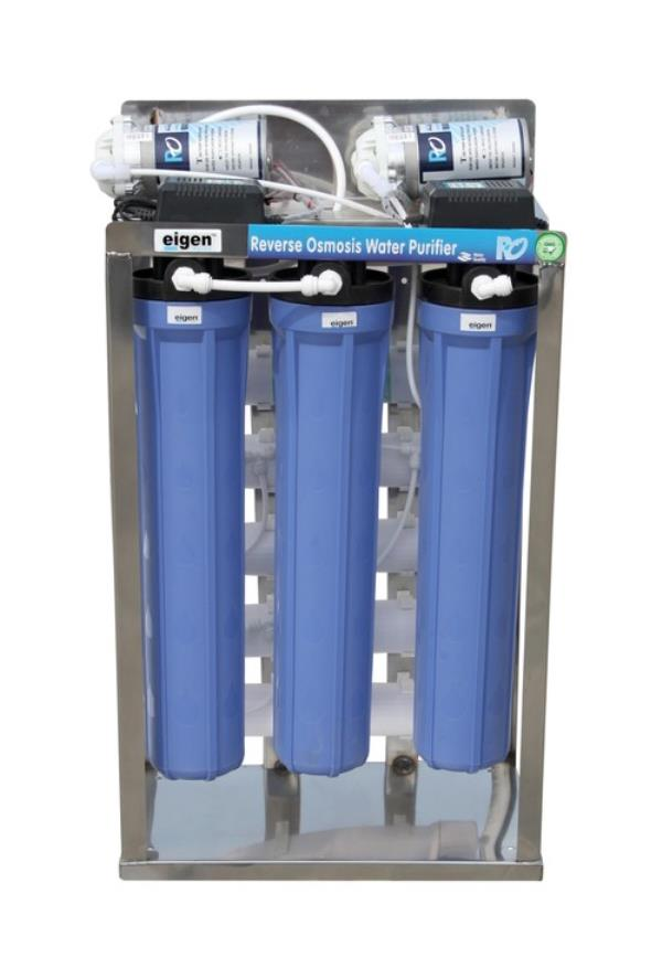 Commercial RO Water purifiers connects to storage water cooler, regular model is 25LPH, 50LPH and 100LPH. Customized purifiers for water coolers or ice machines. PH:8008823458 freezeairhyd@gmail, com