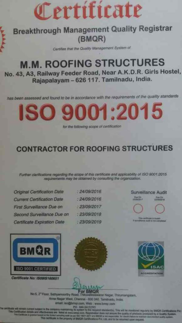 best roofing Contractr in Madurai