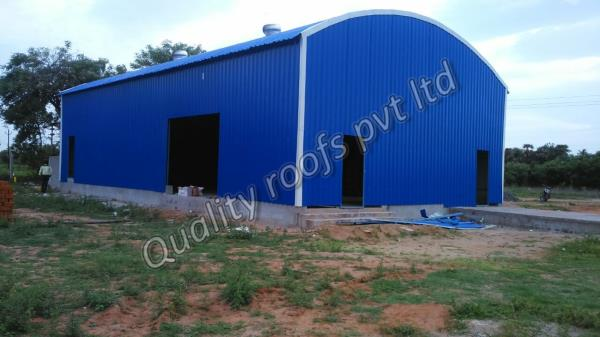Roofing Shed Manufactures In Chennai                        We are the Best Roofing Shed Manufactures In Chennai.  Experts in the production phase have used qualitative material along with excellent techniques. These are notable for their attributes such as robust construction, high strength and complete resistance against loads, earthquake and wind. We are offering these at market leading price.  We assure high quality level of our products by proving through quality certificate issued by experienced and certified quality experts. These sheds are used all over in various industries like in manufacturing units, warehouses and other industries areas.