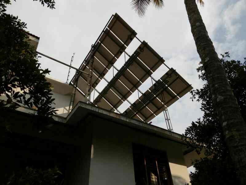 5000va off grid Solar power plant in Angamaly  - by CAPSTONE electronics, Cochi