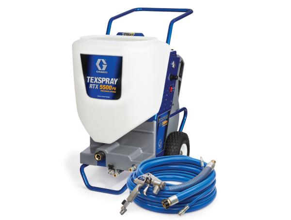 RTX 5500 Texture Sprayers  Graco RTX5500 is single phase electric driven Texture & cement based water proofing material Sprayer. Complete machine with  inbuilt pump & compressor . - by Alpha Marketing @ Graco, New Delhi