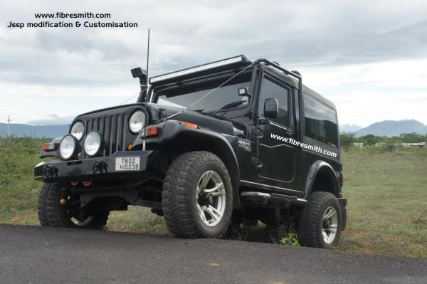 www.fibersmith.com Fibre smith coimbatore, Tamilnadu a well-known manufacturer and supplier for jeep products,  We are manufacturing Fibre Reinforced Plastic products that includes FRP jeep Hard top, Jeep Front grills, jeep Wheel arch, mudguard for jeep, Jeep Snorkel, bolero front grill & Jeep Bumper , Front bumper, rear bumper , Jeep roll bar etc.  We are doing  Jeeps Modification and jeep customisation , mahindra thar crde, thar di, bolero, scorpio, pajero , toyota fortuner , Mahindra scorpio getaway, maruthi gypsy modification, maruthi gypsy modified , Mahindra 540 jeep, Mahindra 550 jeep , jeep modification , Jeep wrangler modification, Rubicon jeep modification, 4x4 jeep, mahindra thar modified , off road jeeps modification, painting, mechanical works, body works, new body in shell, Mahindra thar hard top, Mahindra thar hardtop, Mahindra thar top model,  steel wheels , Alloy Wheels , offroad led light bar, variant type of seat covers , Tyres & Tubes , Mahindra thar 4x4 accesories, 4×4 offroad accessories & Fittings.  We are backed by the finest resources that include our assiduous team of Professionals who have made a commitment towards the highest quality standards and have adopted a value based approach towards client satisfaction. Our Products are known for their features like durable finish, Strength, Light weight, corrosion resistance, and fire resistance