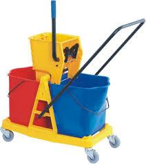 Double Bucket Wringer Trolley Sellers In Noida  we are offering a trendy range of Double Bucket Wringer trolley to our valuable customers.Excellent finish, Elegant designs, Resistant to breakage  We Are One Of The Largest and oldest Distributors of Hygiene and cleaning Products like Double Bucket Wringer Trolley In Noida