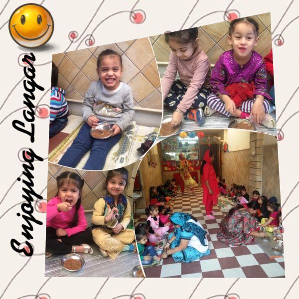 Enjoying Langar😊 - by Smile Playway Creating Smiles, Ludhiana
