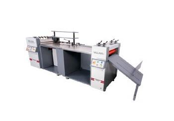 Manufacturer Of Hard case Maker In Mumbai  Model - Premier  https://youtu.be/4fa6ou3B3-w  Economic High quality Multi-use Hard Case Binding Machine: Experienced engineers, dedicated team, Innovative design and heavy duty construction makes sure of consistent high quality multi produced hard case binding machine at economic costs. This Premier model designed for variety of case binding job, demanded by the today market. This semi-automatic machine made by rust free stainless steel glue rollers & working tables for smooth & neat working. Flexible conversion for high productivity: Easy and fast hard case binding bottom gluing machine, variable speed gluing system, glue thickness adjustable system, adjustable gauge unit & Paper table, adjustable Pneumatic turning unit system, advanced automatic pneumatic turning system with tucking-in facility, installed heavy duty silicon rollers to press / calendaring for super finishing hard case cover and adjustable delivery table to gather different size cases. Both the operator can comfortably sit & work, because, there is no pedal operating system. Valuable options for variety of operations demands: Main on/off red light indicator, glue heating cut-off indicator, water heating degree tuner, variable speed glue rollers speed tuner, emergency OFF bush buttons to both glue and calendaring units, inches facility for gluing unit and reverse & forwarding of Calendaring rollers. Programmable Pneumatic turning-in system by variable timing mode is there to bind maximum thickness of papers. Reliable and Proven Gluing system: Suitable stainless Steel glue rollers used for proper constant glue application with high speed paper feeding system, operator shall operate the machine, without touching the glue and tucking in by finger. Cartridge type glue tank with separate hot water tank. Precise control of paper releasing tension blades given for proper paper release and high speed run, it can be avoid the paper stuck / roll in the glue rollers. 