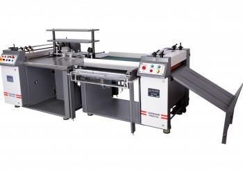 Manufacturer Of Hard Case Maker In Mumbai                                Model -PREMIER PLUS  https://youtu.be/TburQKhPw5A  Hard Case Maker Machine Technical Specification. Economic High quality Multi-use Hard Case Binding Machine: Experienced engineers, dedicated team, Innovative design and heavy duty construction makes sure of consistent high quality multi product hard case binding machine at economic costs. This Premier Plus model is designed for doubling the production capacity compared to our premier model. Premier Plus retains all the beneficial features of premier model. This semi-automatic machine is made using rust resistance stainless steel glue rollers & working table for smooth & neat working. Flexible conversion for high productivity: Easy and fast hard case binding (Up to 400 Cases/ Hour) paper bottom gluing machine * Variable speed gluing system *Adjustable Glue thickness system *Adjustable Gauge unit & Paper table *Adjustable double Pneumatic turning unit (Programmable 1-10 second for variety paper and board material) *Heavy duty Silicon rollers with conveyor installed for pressing / calendaring for dust free & air bubble free finishing, all four operator can comfortably sit & work, because, there is no pedal operating system. Valuable options for variety of operations demands: Main on /off red light indicator *Glue heating cut-off indicator *Water heating degree tuner *Variable speed glue rollers speed tuner *Emergency OFF bush buttons to both glue and calendaring units *Inching & reverse forwarding facility for both gluing unit and calendaring rollers with conveyor *Programmable Pneumatic turning-in system by variable timing mode is there to bind maximum thickness of papers & Boards. Reliable and Proven Gluing system: 40 Inch long Stainless Steel glue rollers are used for proper constant bottom glue application. The machine has high speed paper feeding system & two operator gluing units. Operator shall operate the machine without touching the glue 