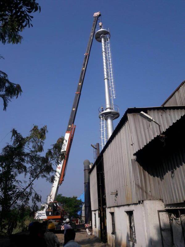 #Chimney Erection Work at Shirwal#50T Hydraulic Telescopic Crane#Hiring#Rental#Shirwal Chakan Pune Pimpri Chinchwad#Cranes of 12T 15T 30T 40T 50T 80T 100T 150T#