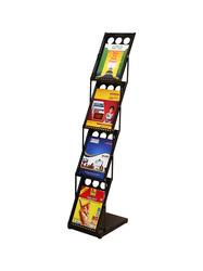 Magazine Holder Stand Features:  This Elegant Model helps to Keep A4 Sized Weekly and Monthly Magazine, office catalogue, Brochures for easy and effective use. These Magazine Stand are used widely at reception areas of hotels, clinics, hospitals and corporate offices etc.. Its a collapsible, user firendly and Portable.