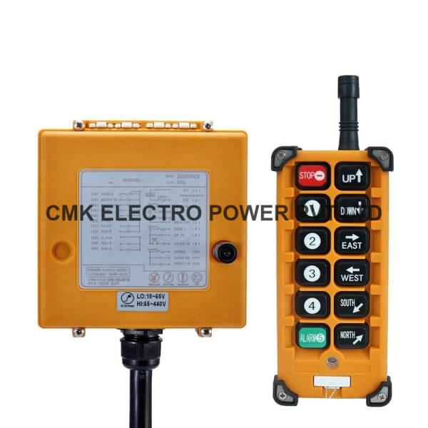 F23-BB Radio remote We are one of the leading manufacturer and supplier of wireless Radio remote control system. We are aslo supplier of telecrane radio remote control. Radio Remote control are widely applied for Overhead crane, lifting equipments. Products Application: single hook electric cable hoist , monorails, single speed electric hoist or electric single speed hoist crane, and used for the industrial remote control.