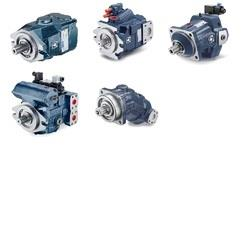 Axial Piston Pumps & Motors  There are Open and Closed circuit types of pumps and motors.  Open circuit axial piston pumps  Open circuit axial piston pumps are used to operate services (hydraulic motors and cylinders) on mobile agricultural and construction machinery, also for lifting and for cleaning applications Open circuit pumps are available with various control logic options: hydraulic load sensing, electronic load sensing, constant pressure, and for certain applications, constant power. All pumps can be equipped with pressure sensors and with swash plate angle sensors. An extensive product range affords the facility of assembling multiple units with axial piston pumps of different sizes, and with gear pumps.\  Closed circuit axial piston pumps  Closed circuit axial piston pumps are used as hydrostatic transmission components in self-propelled machines and for rotary drives in both fixed and mobile equipment of all kinds. Variable displacement axial piston pumps for closed circuit applications are available with a variety of control options: direct manual, servo-assisted manual, remote hydraulic, remote hydraulic with feedback, On-Off electric in closed centre and open centre configurations, proportional electric and hydraulic automotive. Electronic control logic options include automotive, constant speed drive, shift-on-the-fly and feedback. Multiple units can be assembled using axial piston pumps of different sizes, and gear pumps. Possible configurations include circuits with built-in exchange valves and pressure relief valves.  Fixed-displacement axial piston motors  Closed circuit axial piston motors are used as hydro static transmission components, in conjunction with closed circuit pumps, and found consequently in the widest imaginable range of mobile equipment. Fixed displacement motors can also be used in open circuit applications, and are therefore suitable for a variety of hydraulic circuits, such as those of hoists and fan drives Axial piston motors can be fixed or variable displacement. Variable displacement motors are available with two position hydraulic controls, two position electric control and proportional electric control. Controls can also be customised where particular strategies are required. Possible configurations include circuits with built-in exchange valves and pressure relief valves. Built-in cartridge versions also available for epicyclic hubs.	 Axial Piston Pumps & Motors