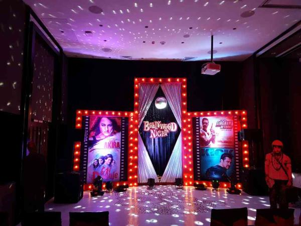 Bollywood theme night at Hyatt Place Kandolim designed and executed by Event Bazaar