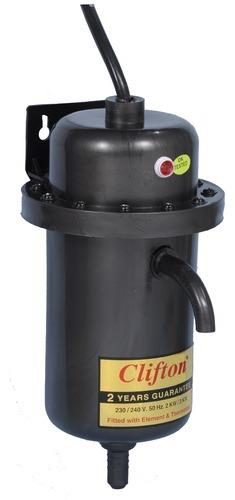 Portable Geyser  Approx Price: Rs 1, 460 / Piece We are specialized at designing and developing high performing and safe to use Portable Geysers. These geysers are featured with a unique installation system, which makes it suitable for mobi - by Clifton India, Jaipur, Jaipur