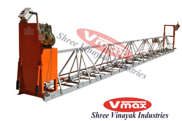 Shree Vinayak Industries is most prominent Manufacturer and Supplier of wide assortment of Truss Screed vibrator.Truss screed vibrator is most useful in surfacing , leveling and finishing in hard concrete.This machine is 6 meter long and it has 3 parts like 1 meter, 2 meter and 3 meter.Truss screed vibrator is useful for fast and easy for leveling and finishing it's call truss screed vibrator, screed board vibrator, Double beam svreed vibtator etc.
