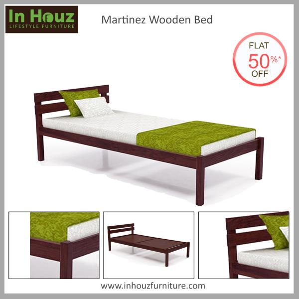 The sleek and comfortable Single Bed will help you add more space in the Bedroom. Made in high-quality Sheesham Wood, this Bed is a great pick for the Guest Room or Kids Room.   #SingleBed #SingleBedDesign #HardwoodBeds #SolidwoodSingleBeds #GuestRoomFurniture #KidsRoomFurniture #BedRoomFurniture #InHouz #InHouzFurniture #OnlineFurniture #FurnitureInDelhiAtLowCost #FurnitureShopsInDelhi  Pick your favourite from www.inhouzfurniture.com