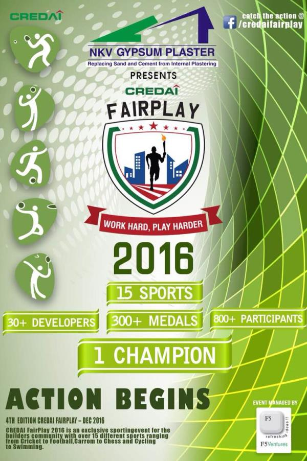 NKV GYPSUM PLASTER is proud to be associated with the Credai FairPlay 2016  - by NKV HOME DEPOT, Chennai