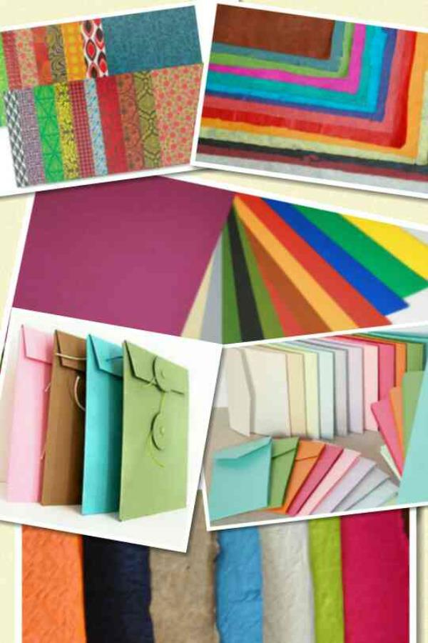 Handmade made paper for hand crafts of different colors, varieties, sizes and designs. We are manufacturers of best quality of handmade paper bags and handmade paper products  - by SSAVE SOLUTIONS For Best Shopping Bags, Hyderabad